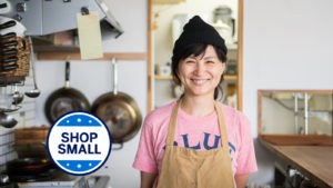 Earn 3 bonus points per dollar for a full year with Amex Shop Small