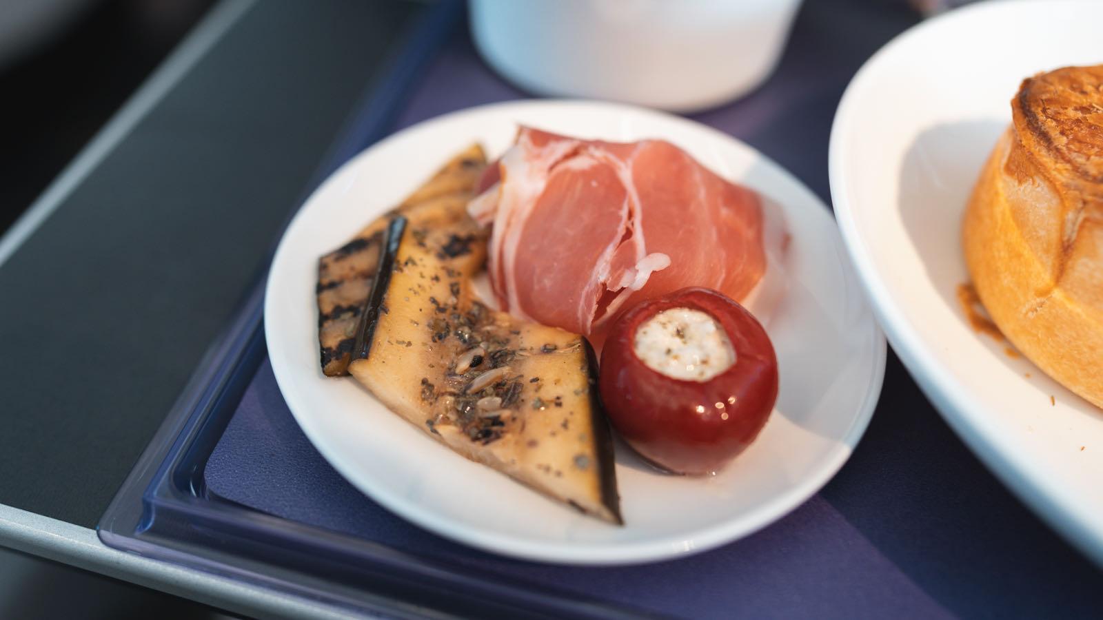 Virgin Australia 737 Business Class Food