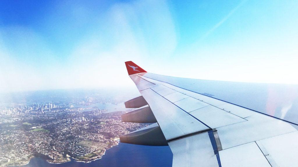 Qantas A330 Sydney to Auckland Window View