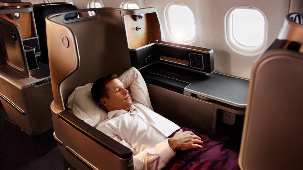 Qantas Airbus A330 Business Class Seat Windows