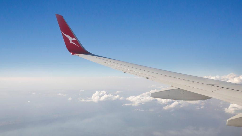Qantas Plane Wing
