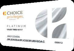 Choice Privileges Platinum Card