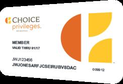 Choice Privileges Standard Card