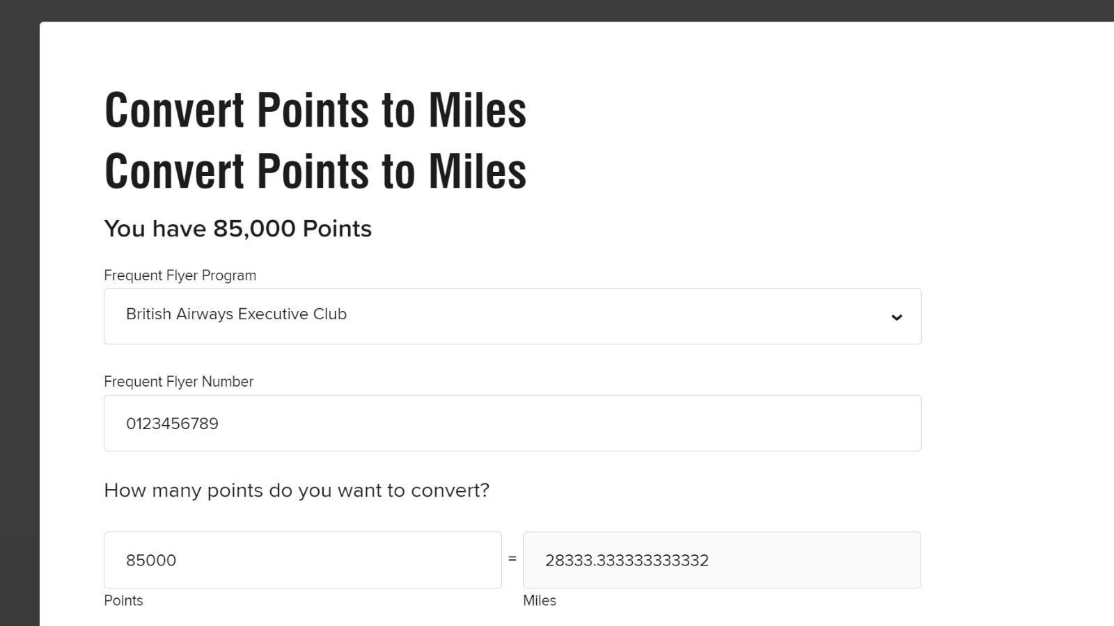 Marriott Bonvoy Points to Miles