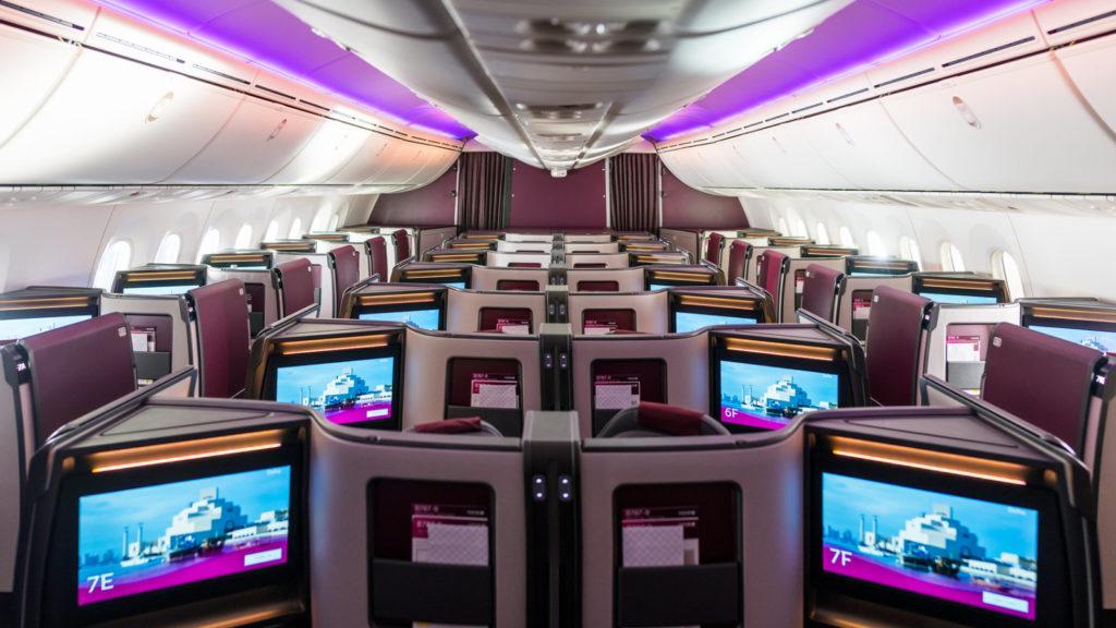 Qatar Airways Boeing 787-9 Cabin