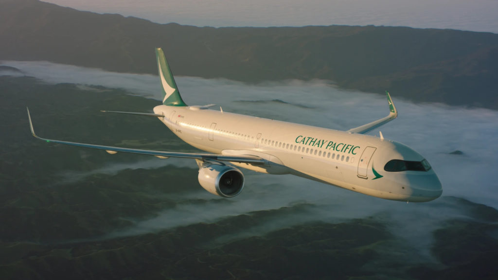 Cathay Pacific A321neo flying