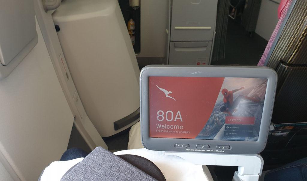 Qantas A380 extra legroom seat