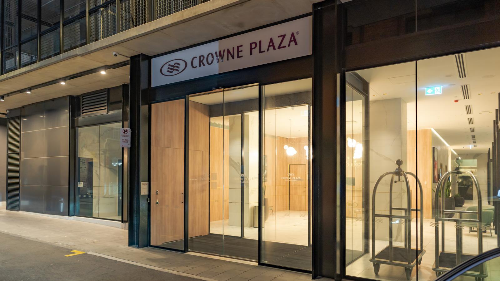 Crowne Plaza Adelaide side entrance