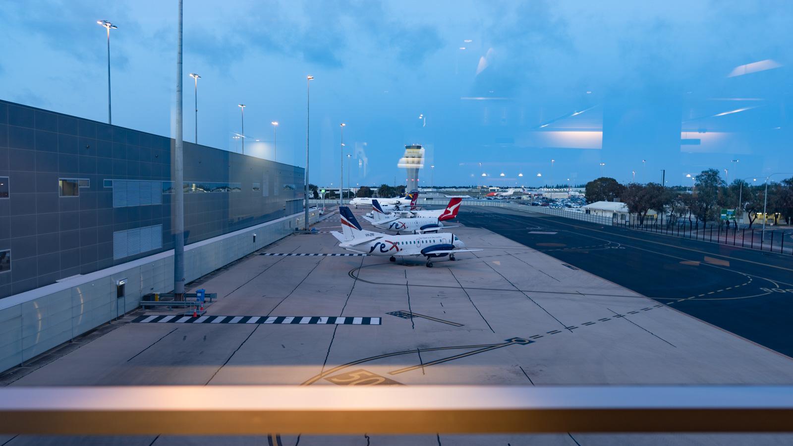 Qantas Club Adelaide views