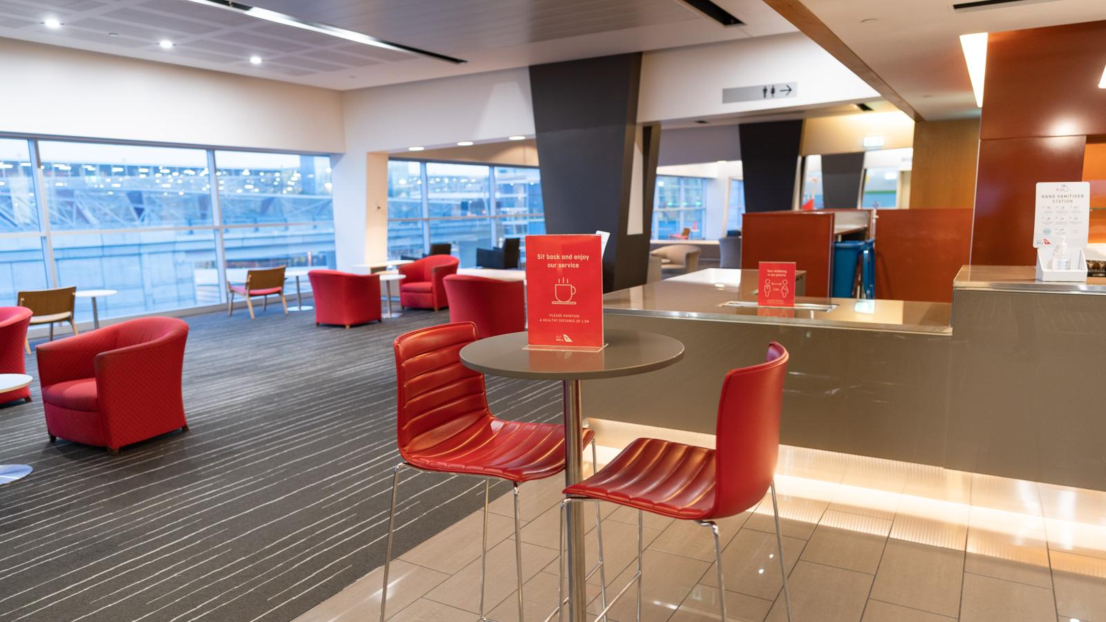 Qantas Club Adelaide seating