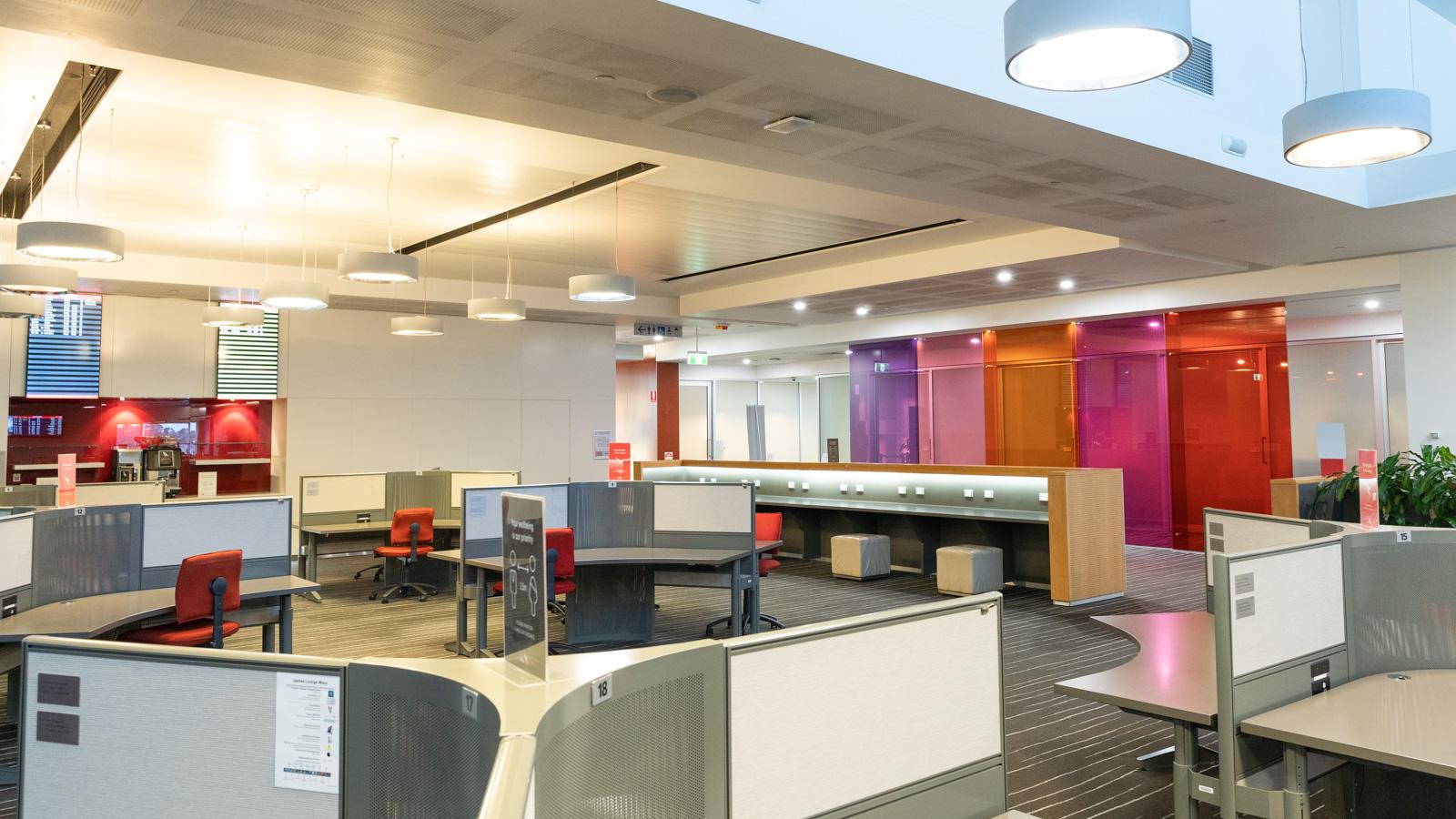 Qantas Club Adelaide work space