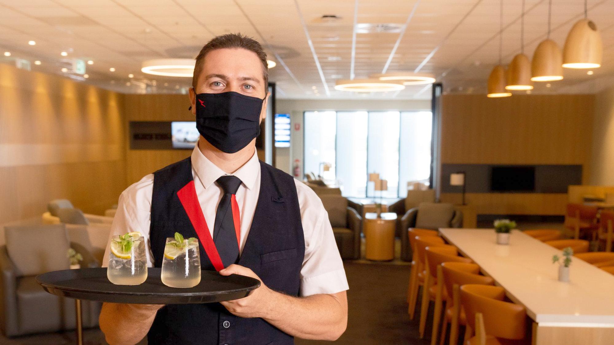 Qantas International Transit lounge Darwin