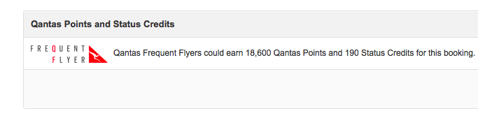 2 Qantas Points Earned