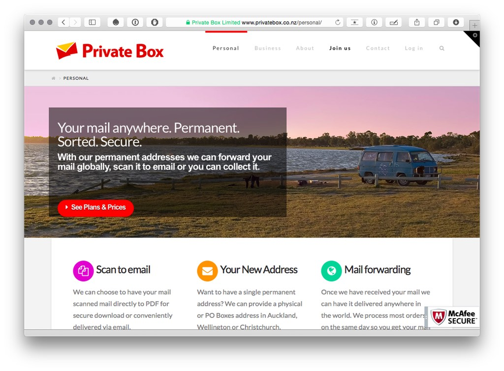 Virtual Private Mailbox NZ