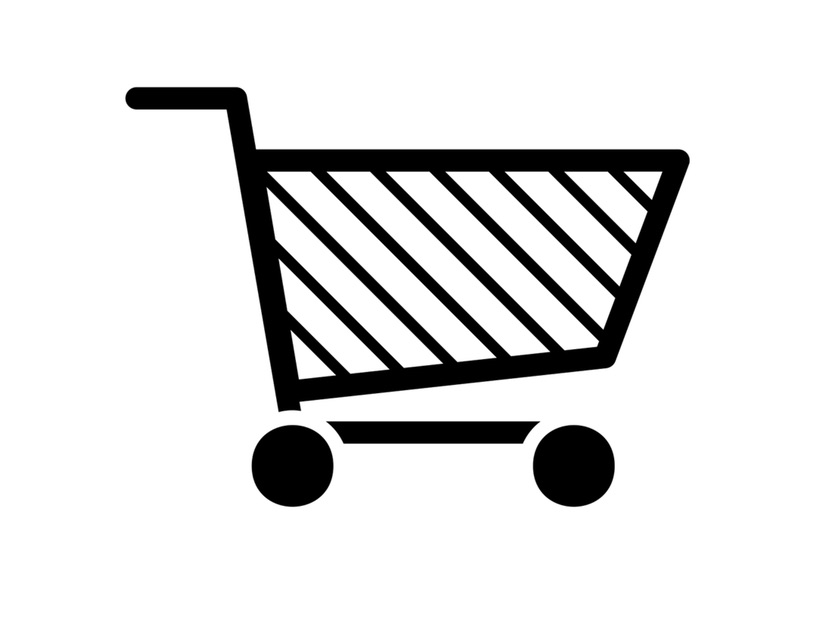 Supermarket cart icon
