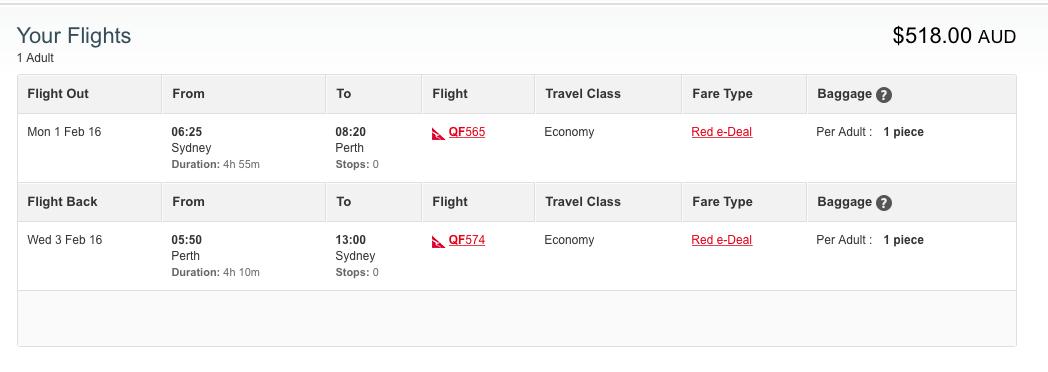 Domestic flight booking
