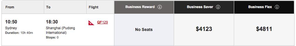 Qantas international A330 Business Class review – QF129 Sydney to Shanghai