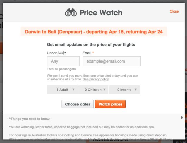 Jetstar Price Watch