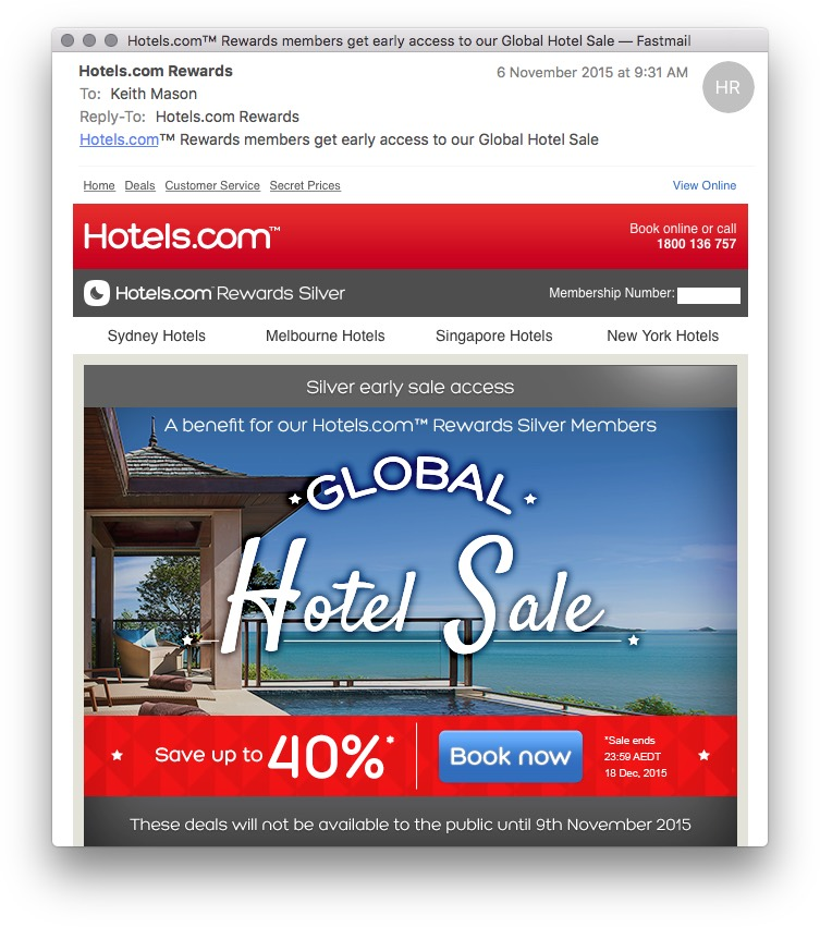 Hotels.com Silver Early Sale | Point Hacks