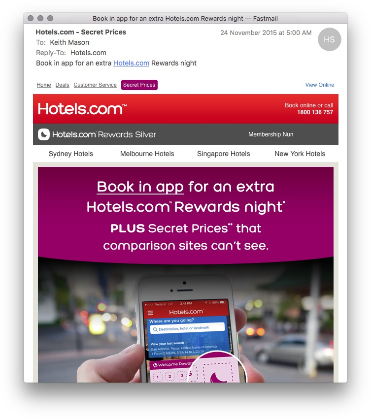 Hotels.com Free Night in App | Point Hacks