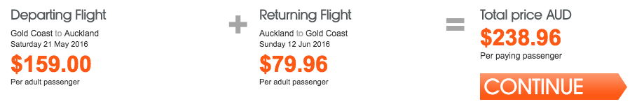 Jetstar NZ Sale Gold Coast