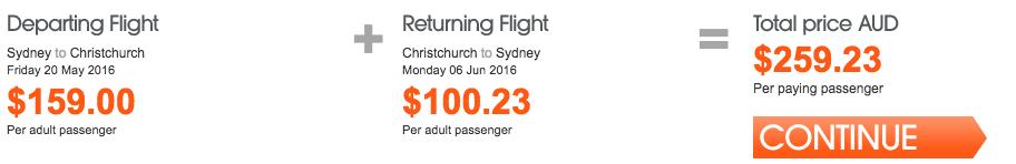 Jetstar NZ Sale Sydney
