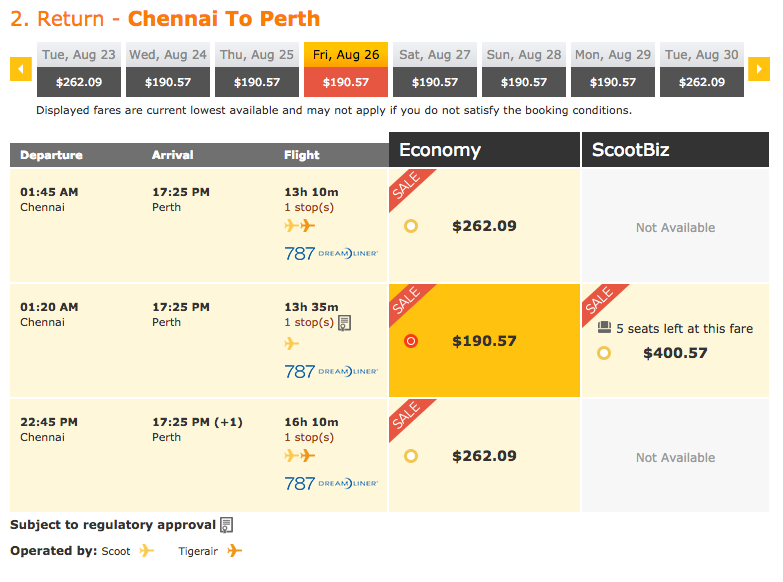 Scoot Sale Perth 2:2