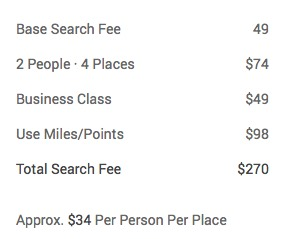 Flightfox example pricing
