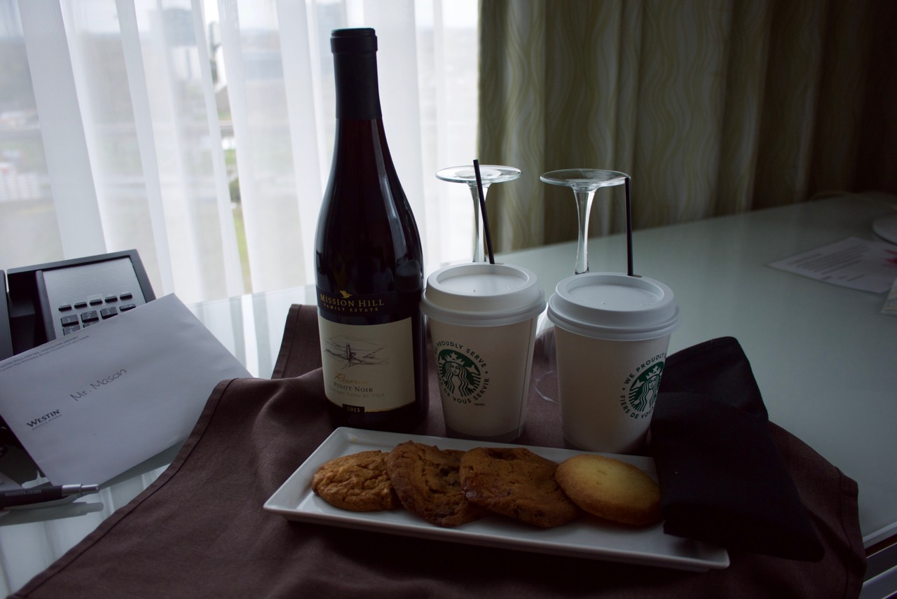 Westin Wall Centre Welcome Amenities