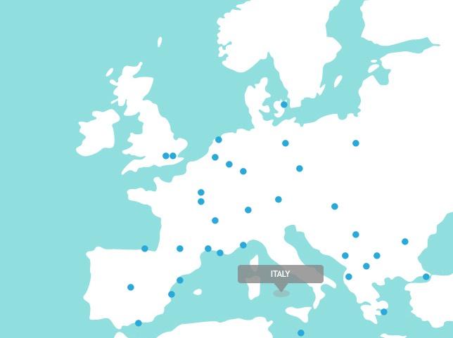 Alitalia Routemap Europe