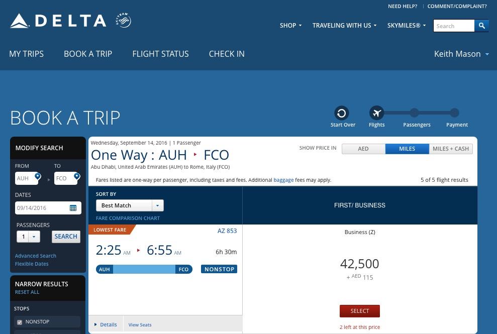 Delta Alitalia Results