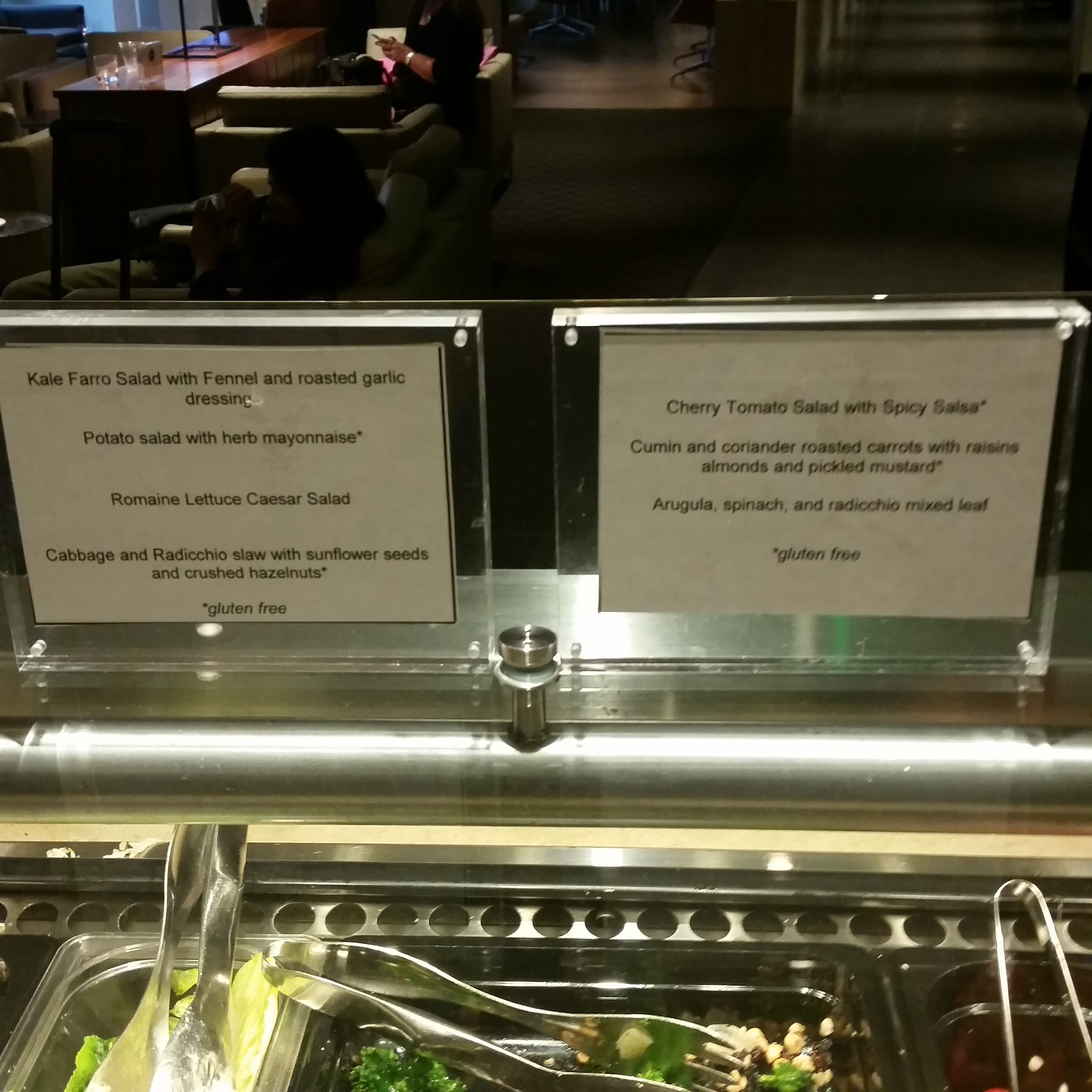 Qantas LAX lounge review sides and salad