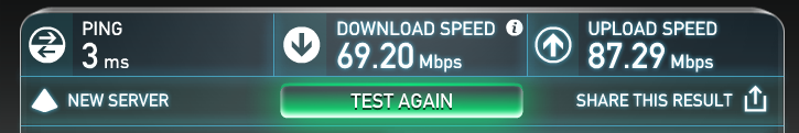 QF Business Lounge Internet Test Speed June 2016
