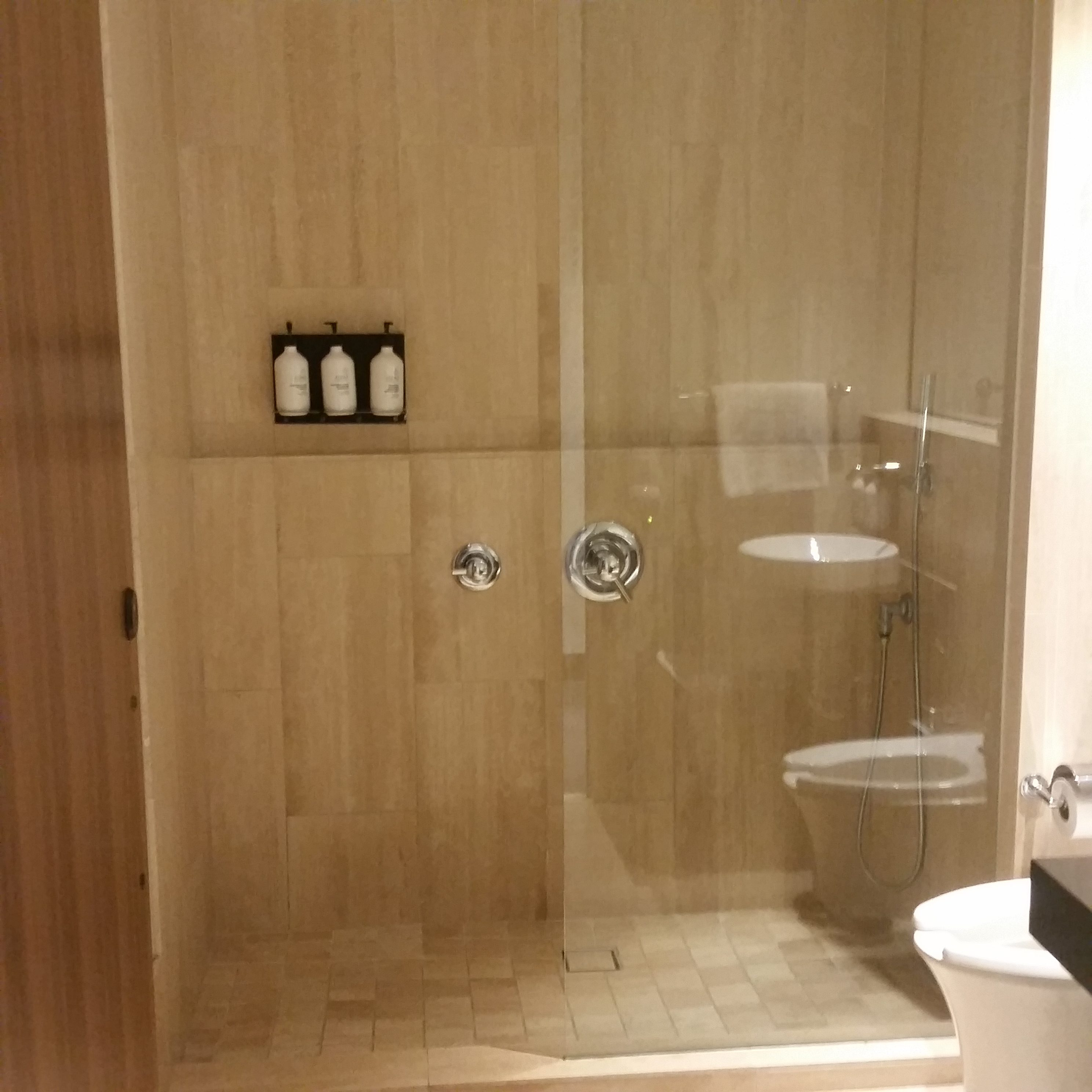 Qantas LAX Lounge shower