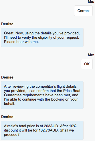 Jetstar Price Beat Guarantee chat 2